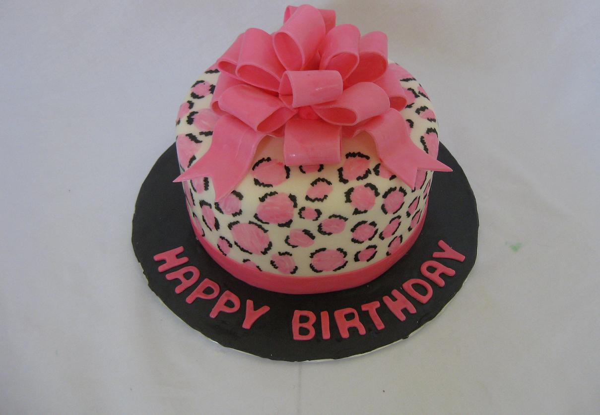 Pink Bow Leopard