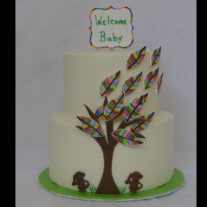Rainbow Leaves Baby Shower